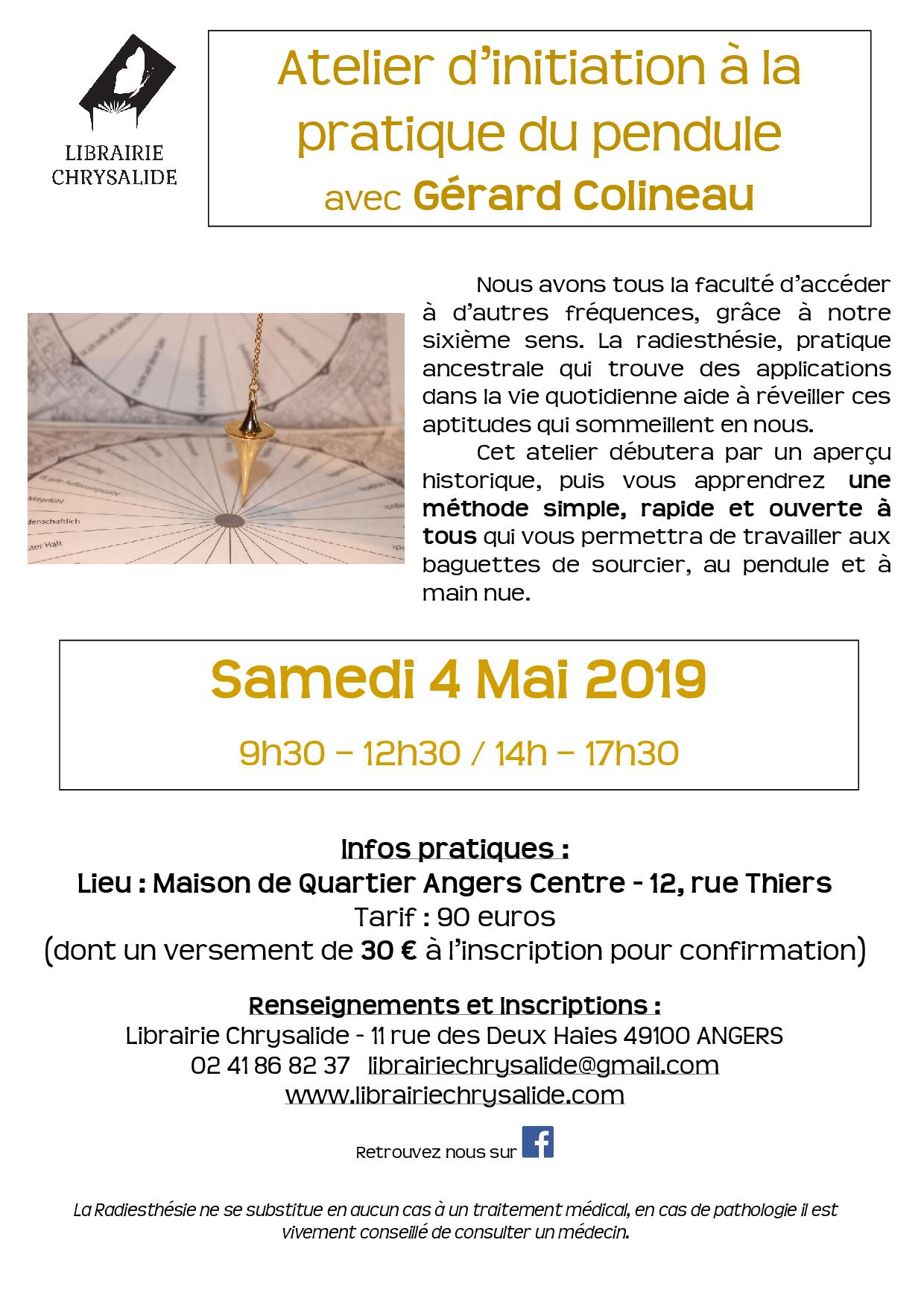 ATELIER D'INITIATION A LA PRATIQUE DU PENDULE