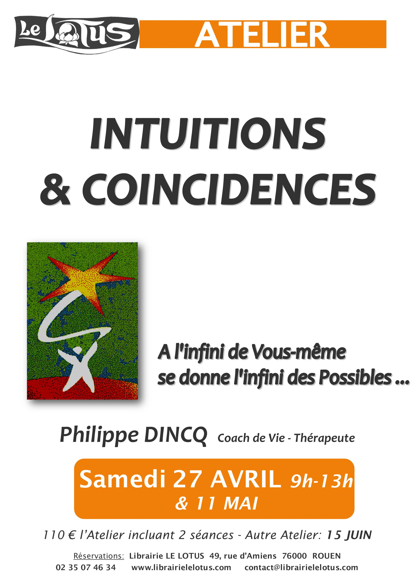ATELIER - INTUITION & COINCIDENCES - AVRIL